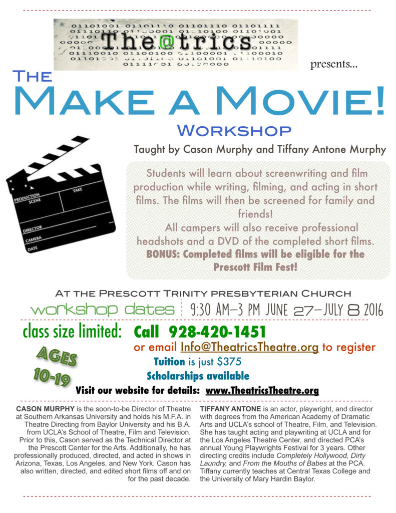 Make a Movie workshop 2016